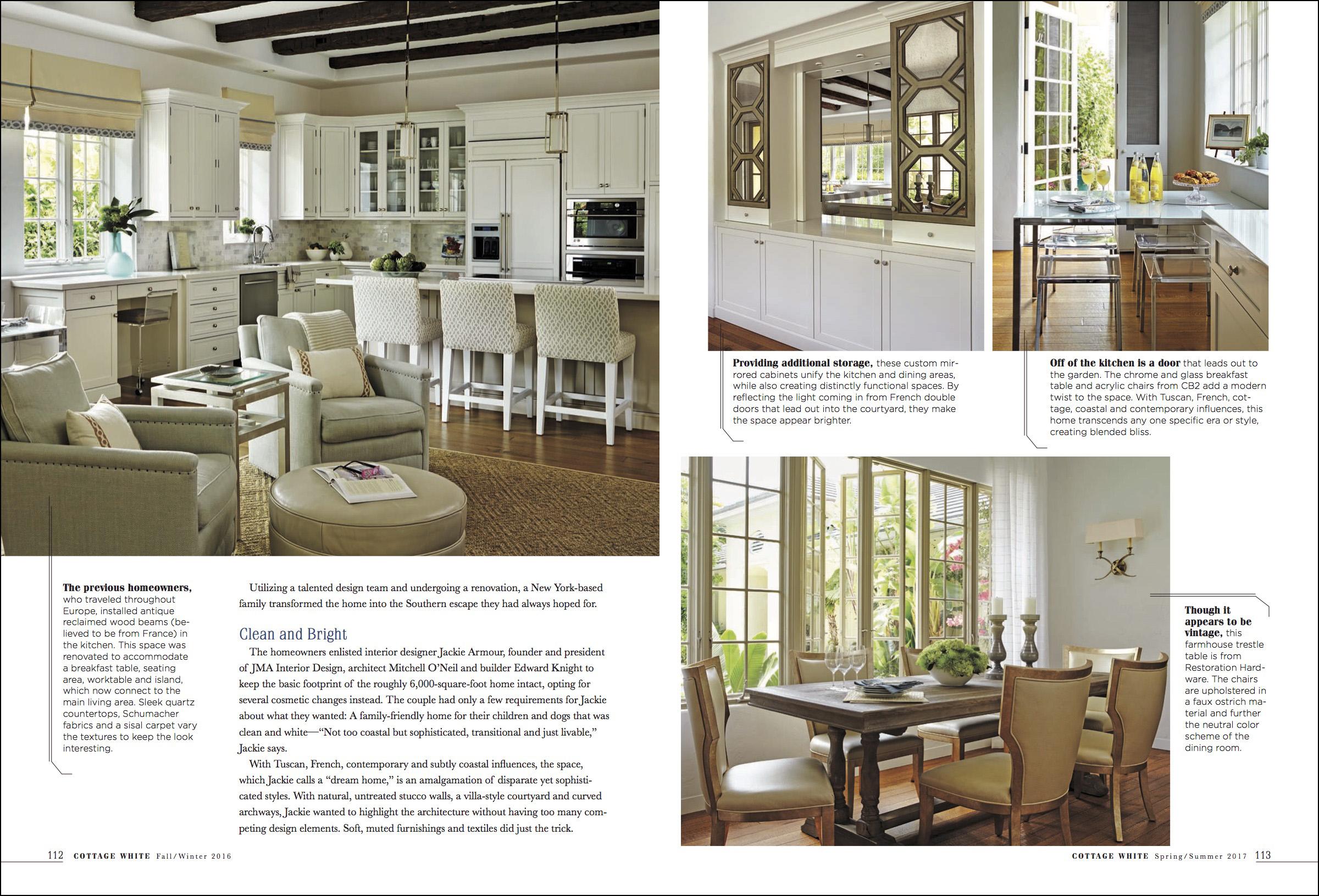 cottage white magazine design article brantley photography